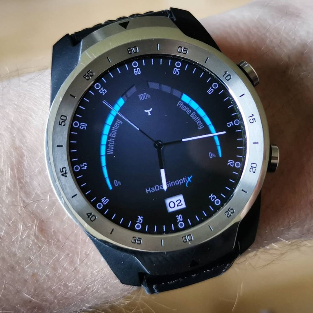 HaDe SinoptiX II - Wear OS Watchface on Mobvoi TicWatch Pro