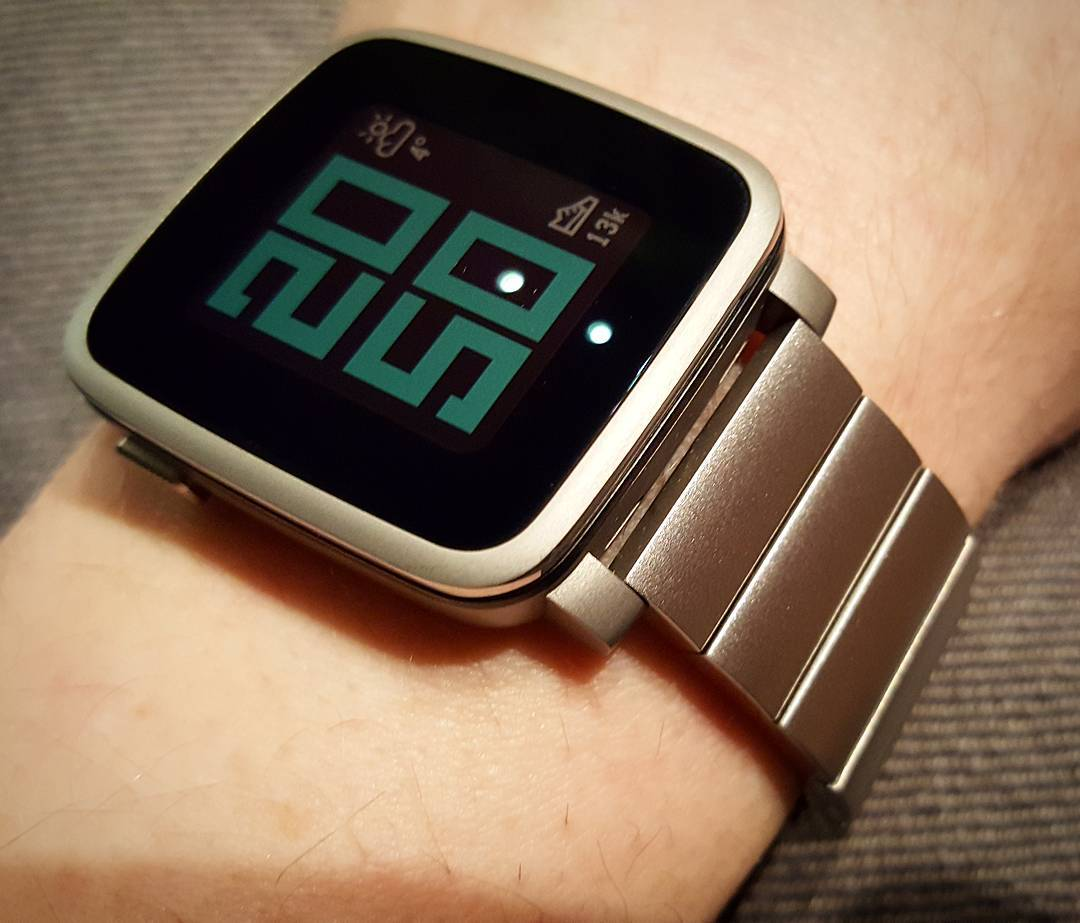 TimeStyle - Pebble Watchface on Pebble Time Steel