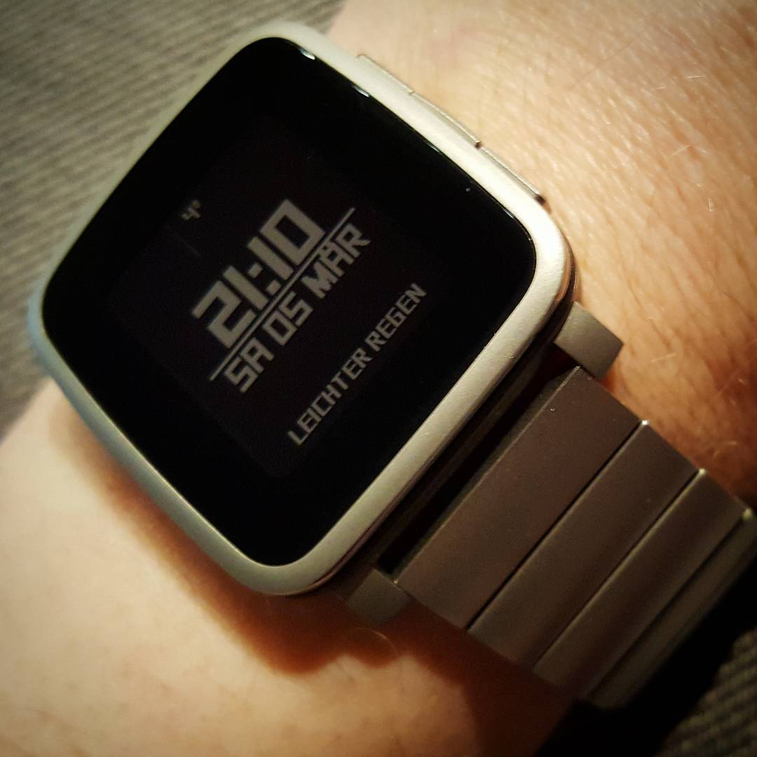 Square - Pebble Watchface on Pebble Time Steel