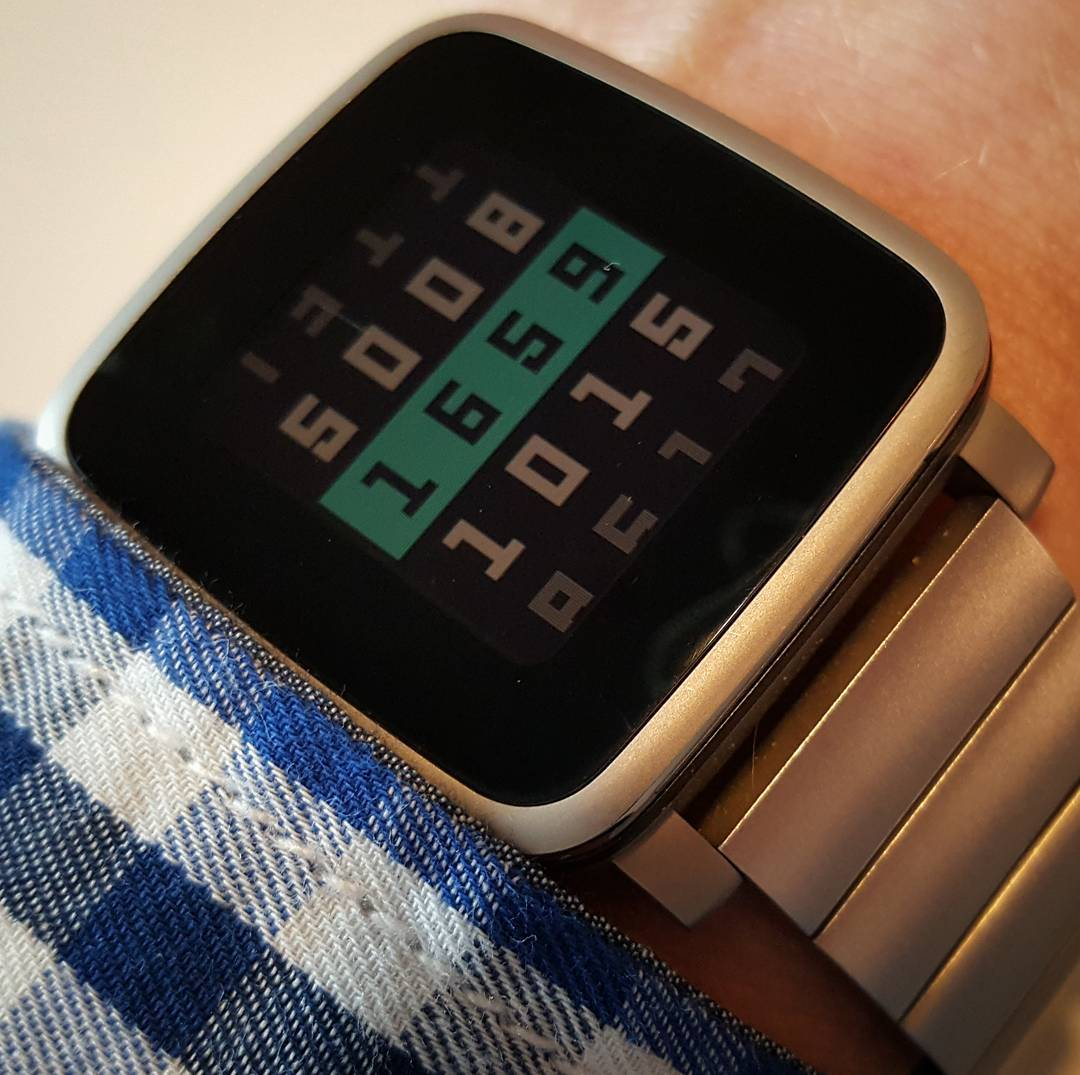 Slides of Time - Pebble Watchface on Pebble Time Steel