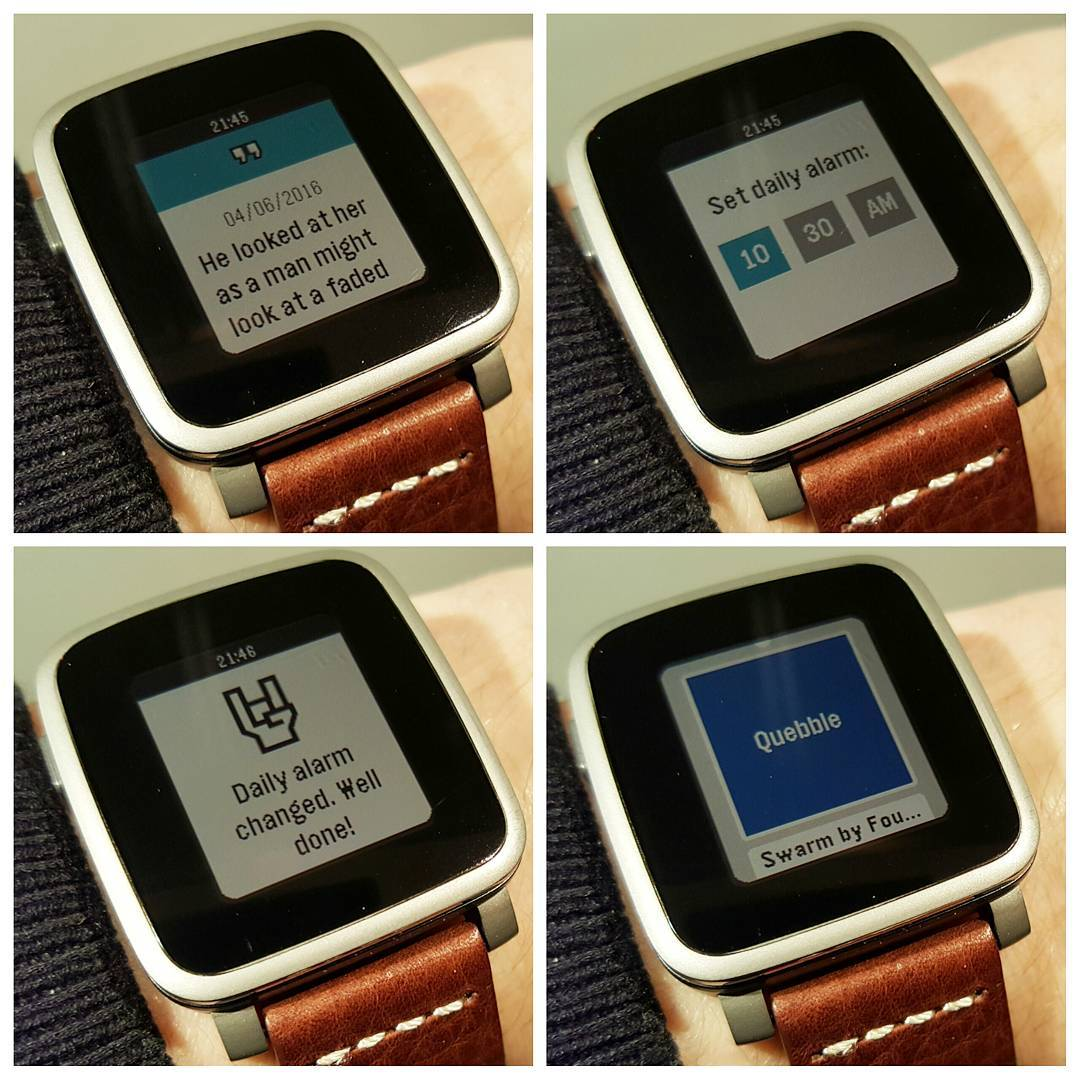 Quebble - Pebble Watchapp on Pebble Time Steel