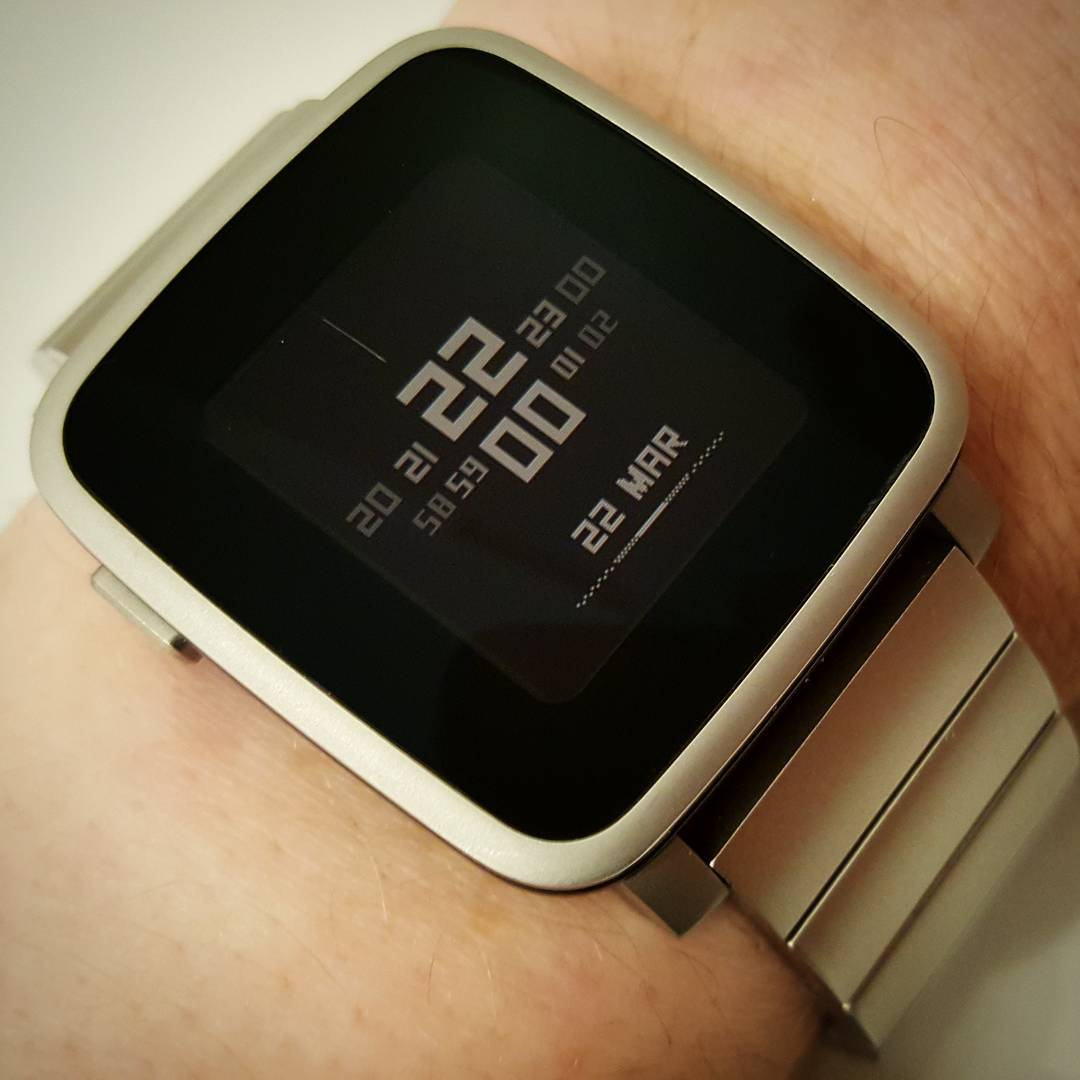 Minimal - Pebble Watchface on Pebble Time Steel