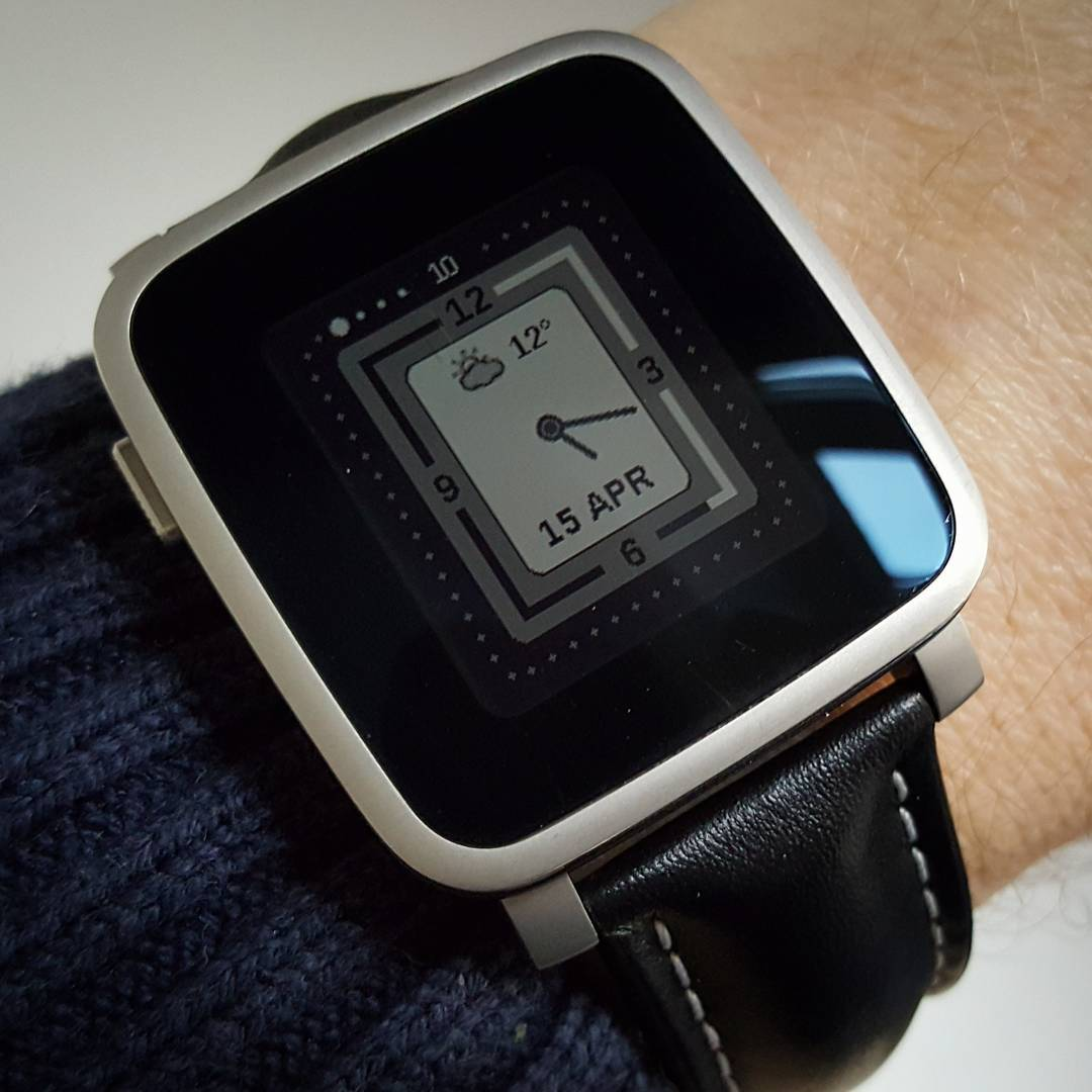 Future Time - Pebble Watchface on Pebble Time Steel