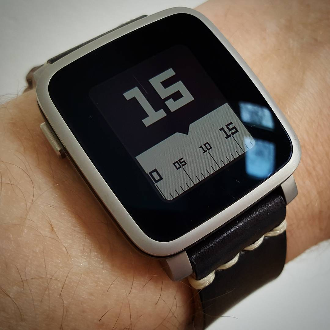 Timeline - Pebble Watchface on Pebble Time Steel