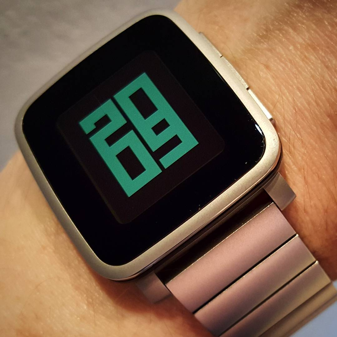 Overlap - Pebble Watchface on Pebble Time Steel