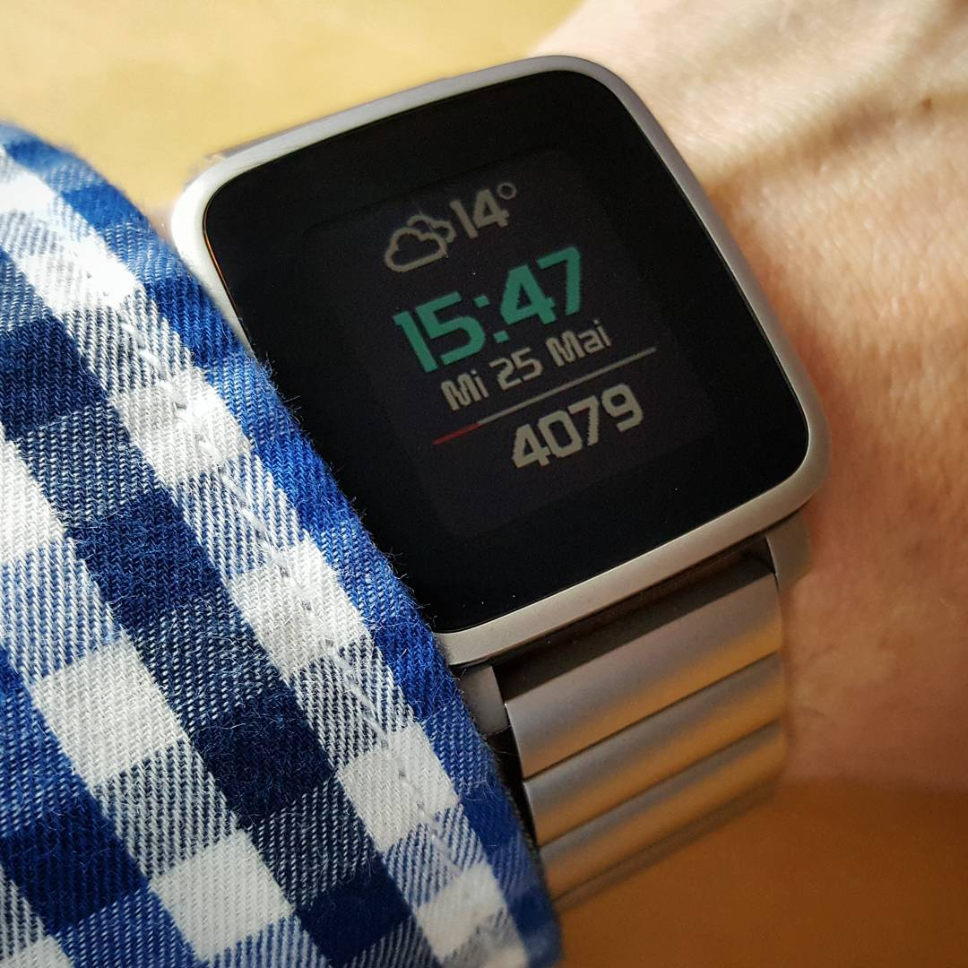 WeatherStep - Pebble Watchface on Pebble Time Steel