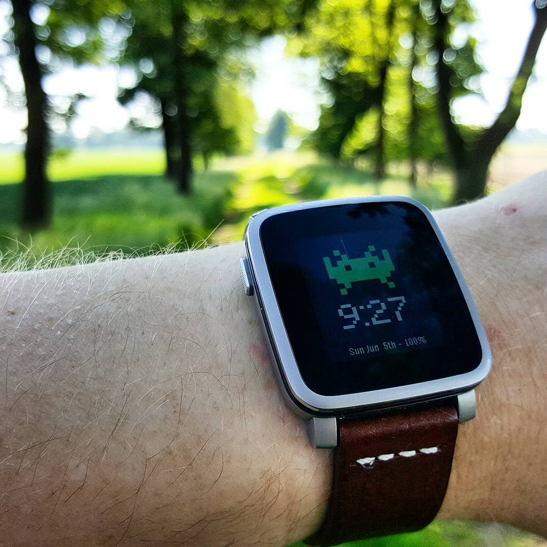 Invader Watch - Pebble Watchface on Pebble Time Steel
