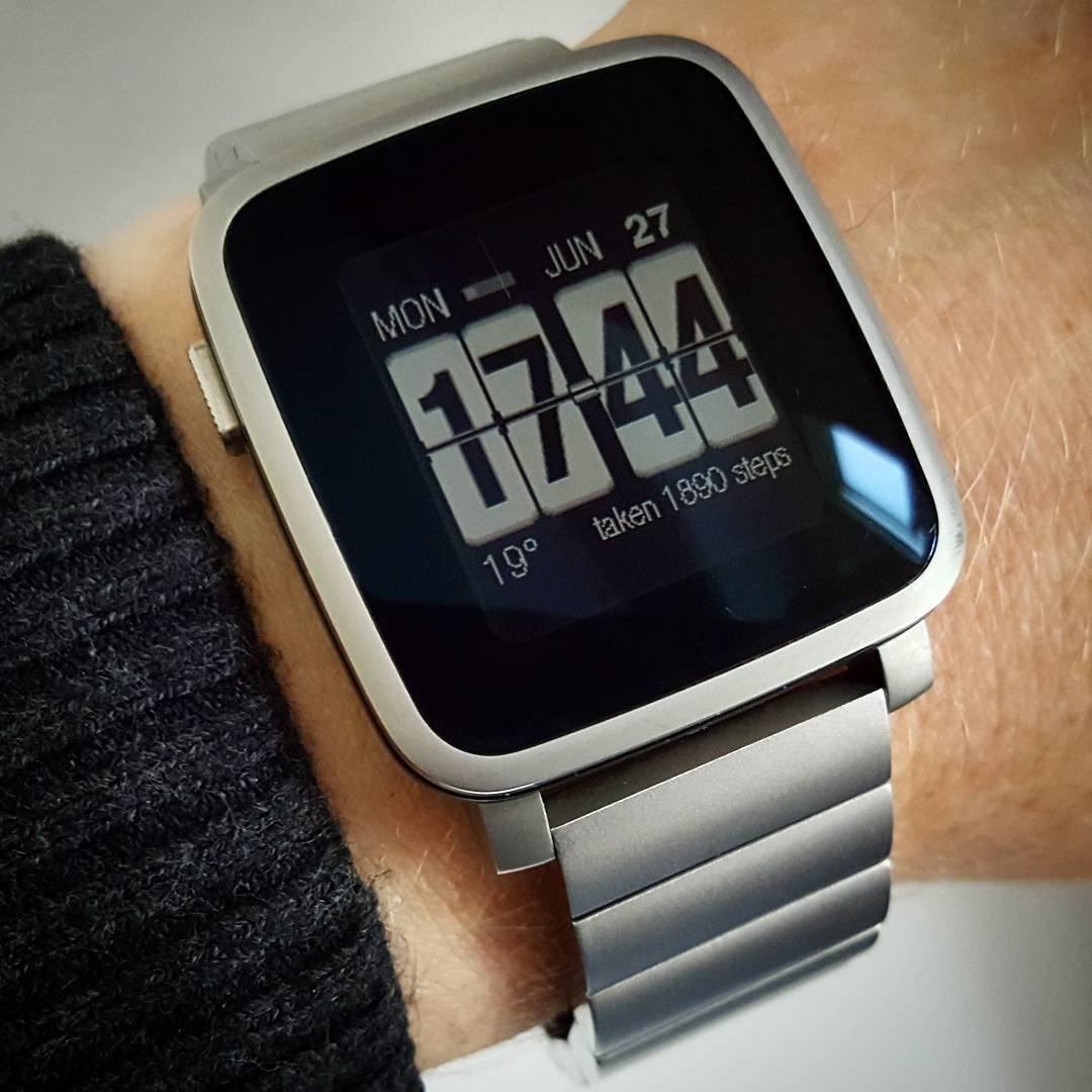 Flipside - Pebble Watchface on Pebble Time Steel