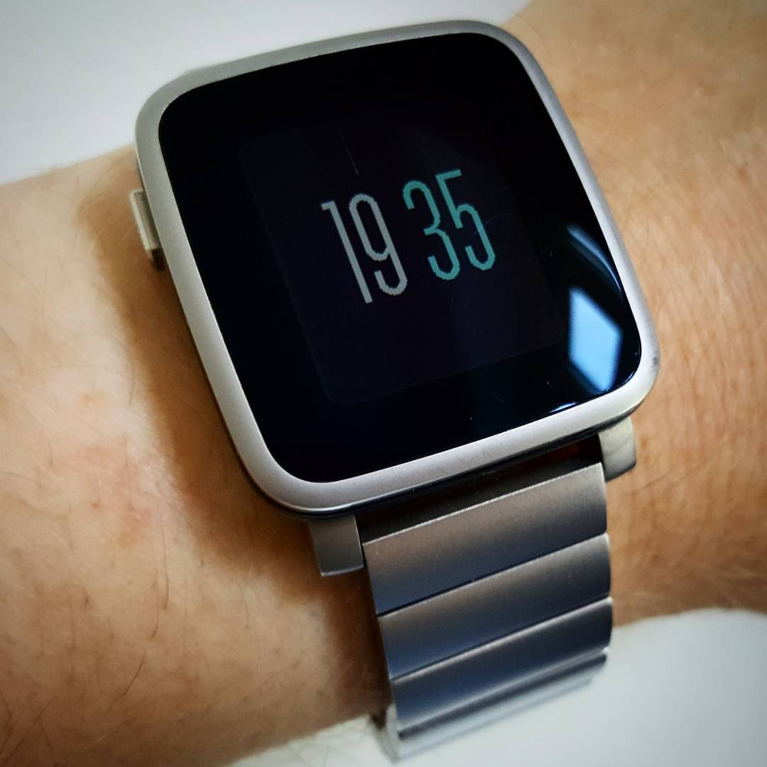 Basic Steps Weather - Pebble Watchface on Pebble Time Steel