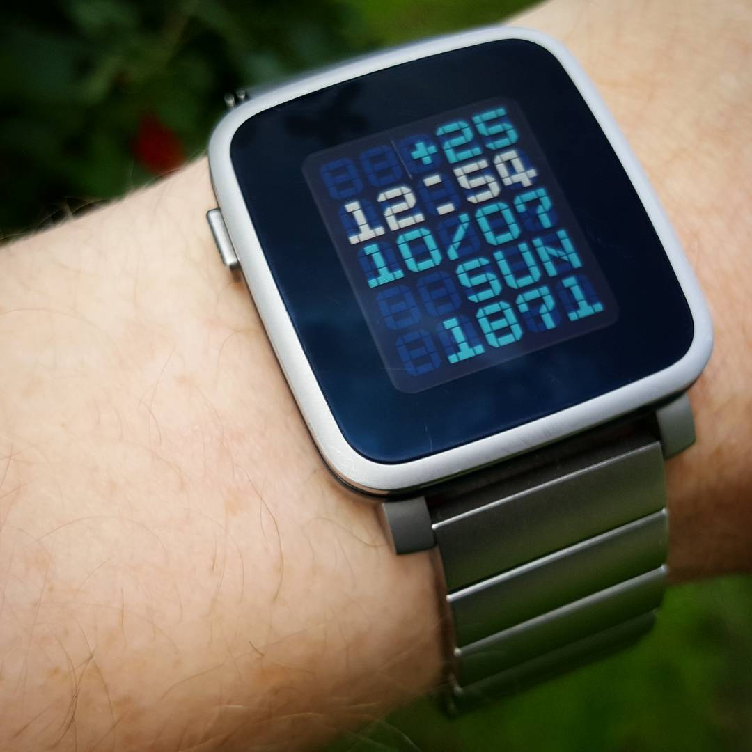 ttmmbrn - Pebble Watchface on Pebble Time Steel