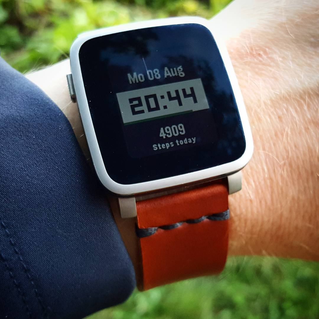 Step Counter - Pebble Watchface on Pebble Time Steel