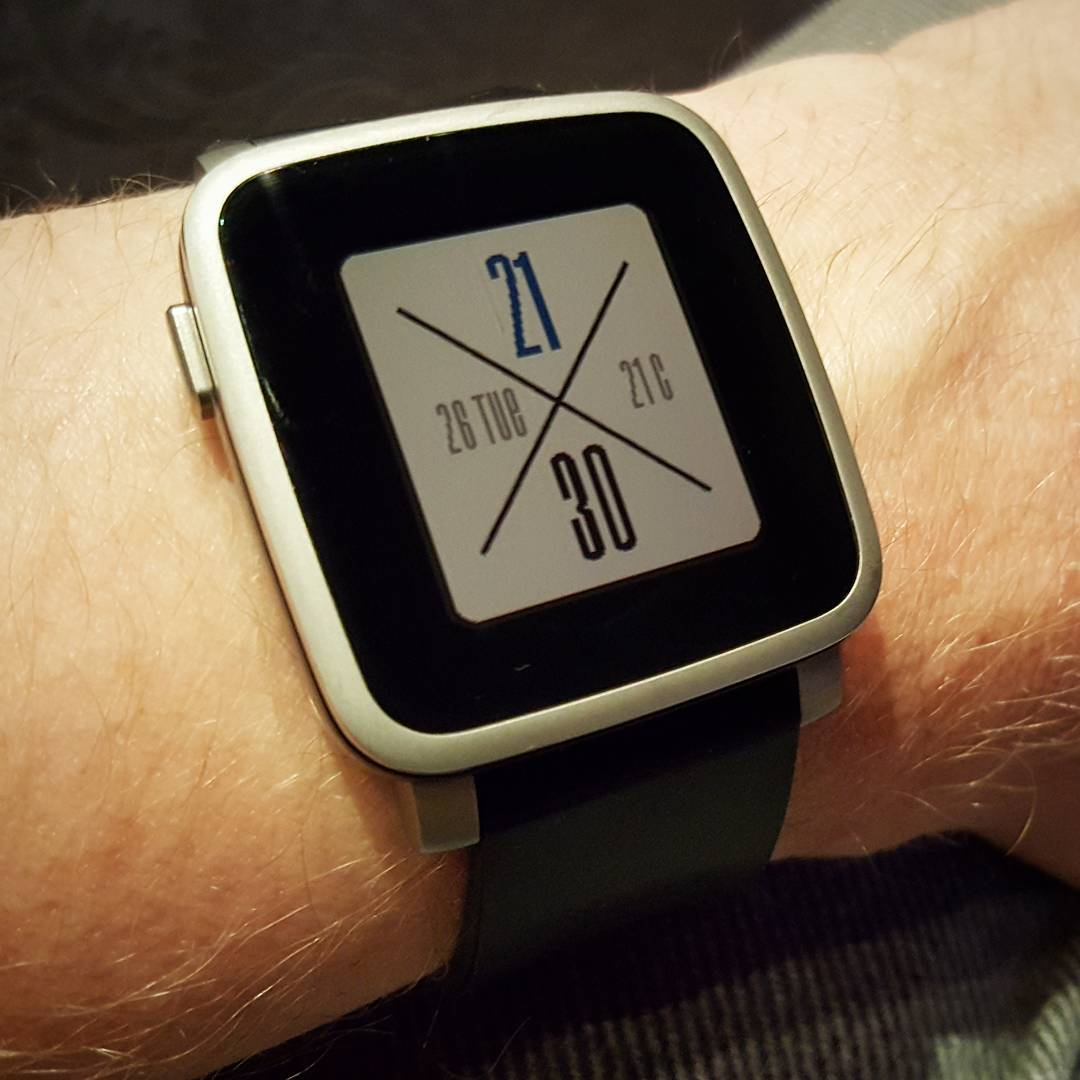 CrossWatch - Pebble Watchface on Pebble Time Steel
