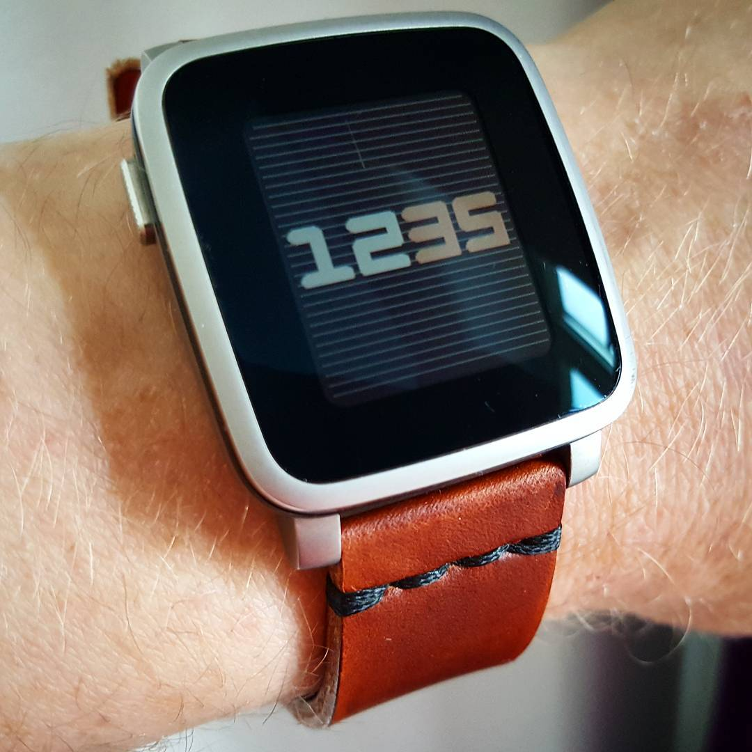 Just Time - Pebble Watchface on Pebble Time Steel