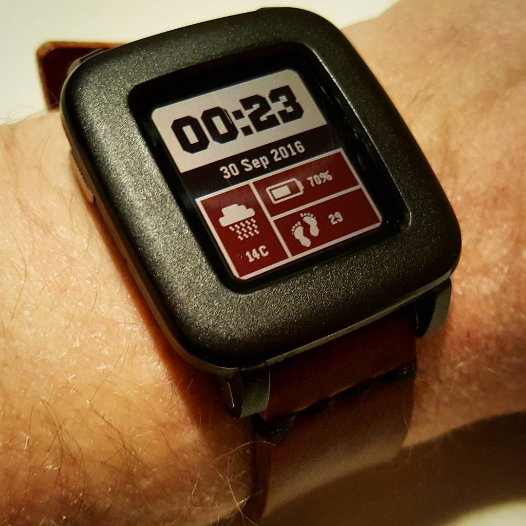 SimpleFace - Pebble Watchface on Pebble Time Steel