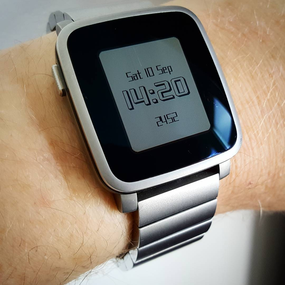 Stencil - Pebble Watchface on Pebble Time Steel