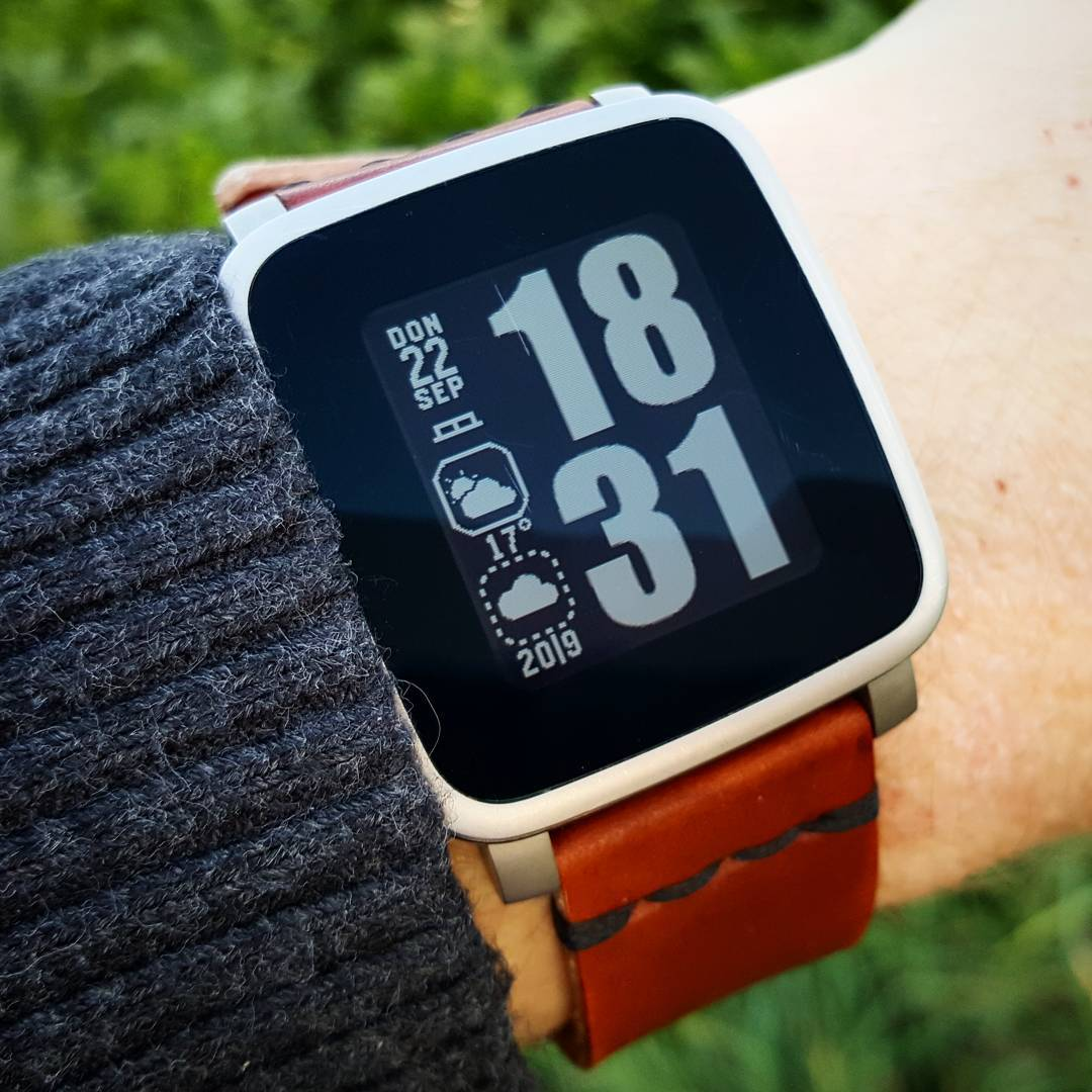 Impact - Pebble Watchface on Pebble Time Steel