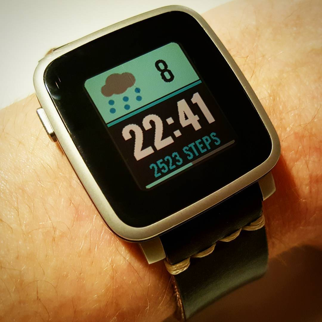 CLEAR Plus - Pebble Watchface on Pebble Time Steel