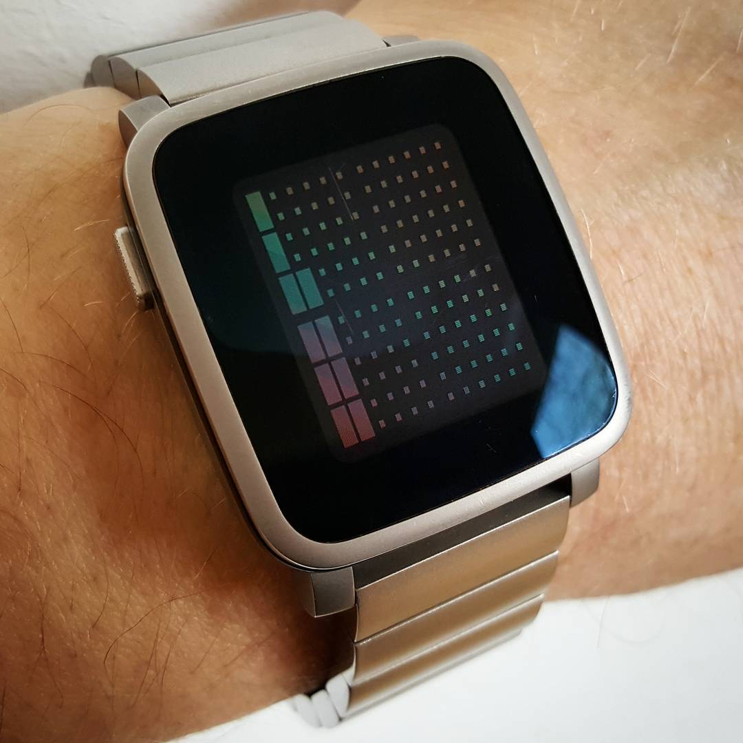 FULL OF PIXELS - Pebble Watchface on Pebble Time Steel
