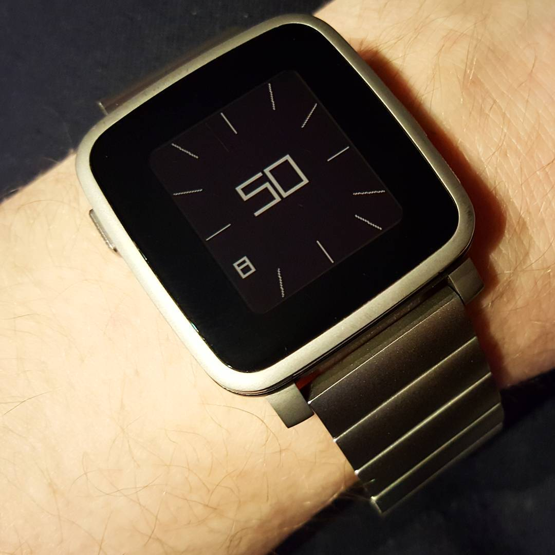 Minimal Twist Watchface - Pebble Watchface on Pebble Time Steel
