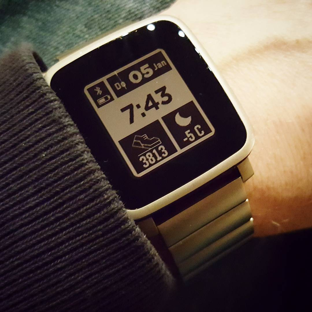 WUnderful Digital Step - Pebble Watchface on Pebble Time Steel