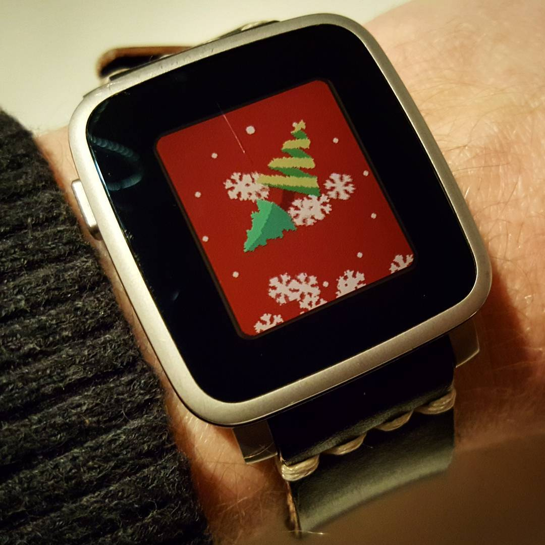 X-Mas - Pebble Watchface on Pebble Time Steel