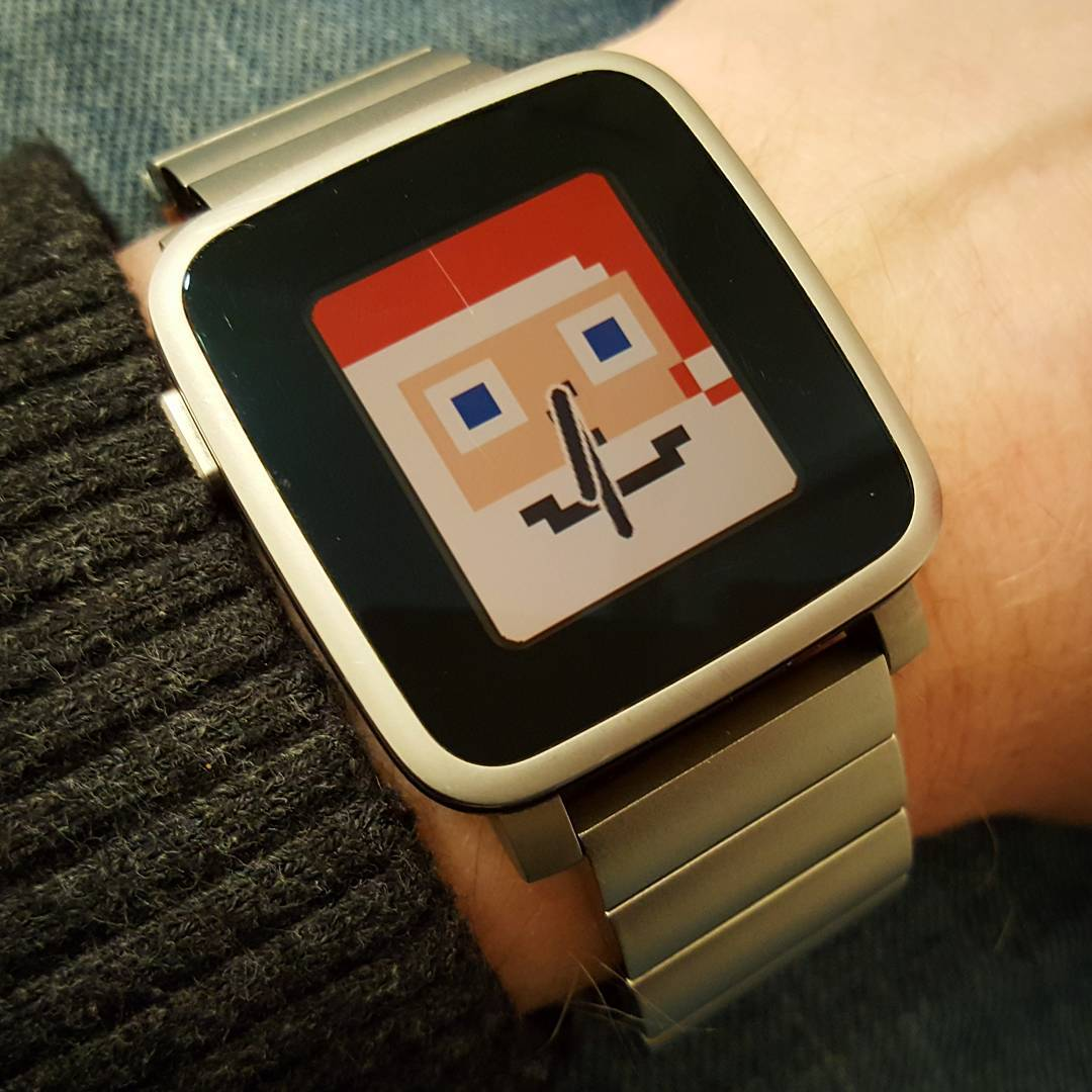 Tinyheads - Pebble Watchface on Pebble Time Steel