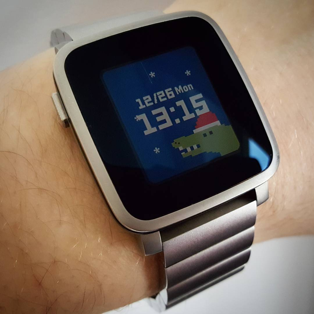 waniwatch - holiday - Pebble Watchface on Pebble Time Steel