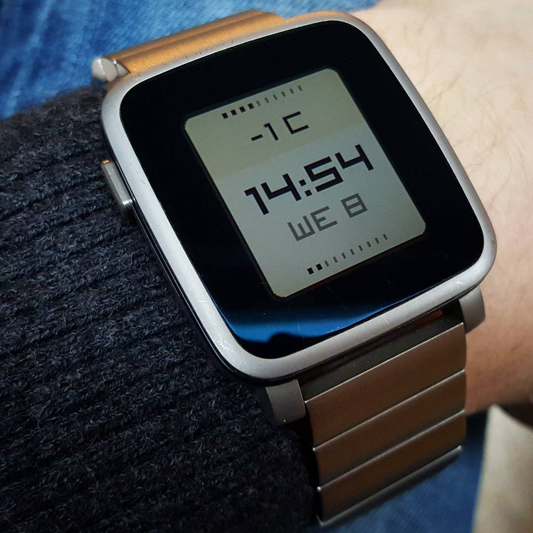 Color weather Plus - Pebble Watchface on Pebble Time Steel
