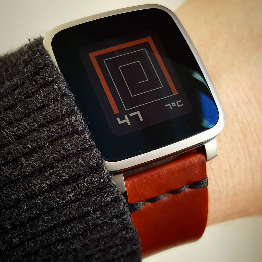 ttmmaze - Pebble Watchface on Pebble Time Steel