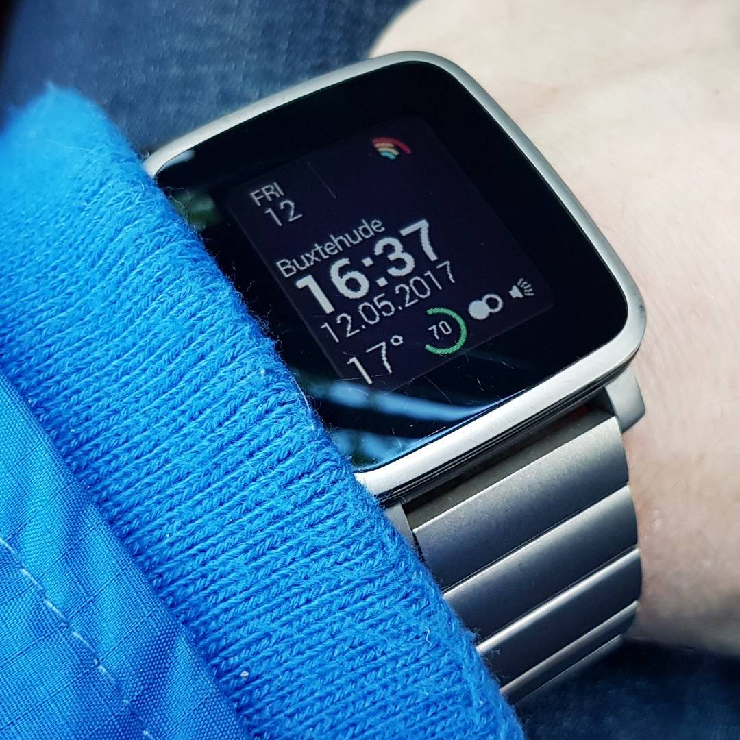 Modular Health - Pebble Watchface on Pebble Time Steel