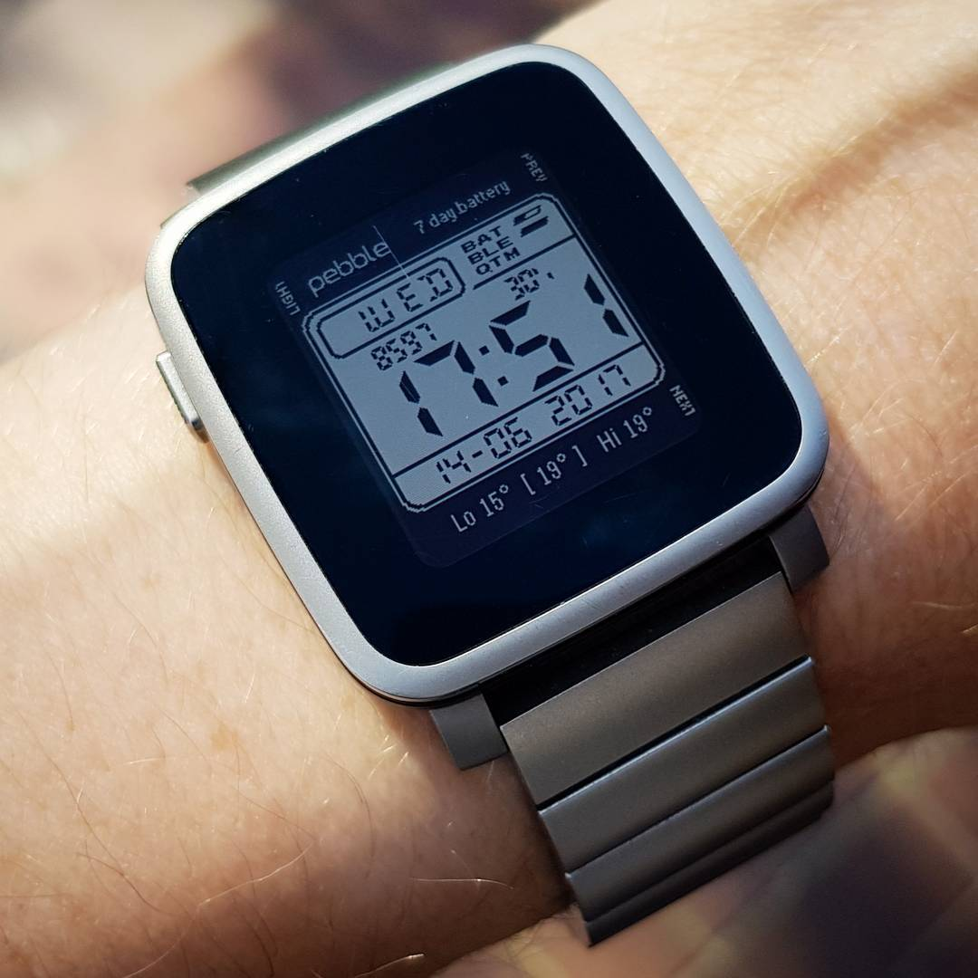 W800H / W96H Casio - Pebble Watchface on Pebble Time Steel