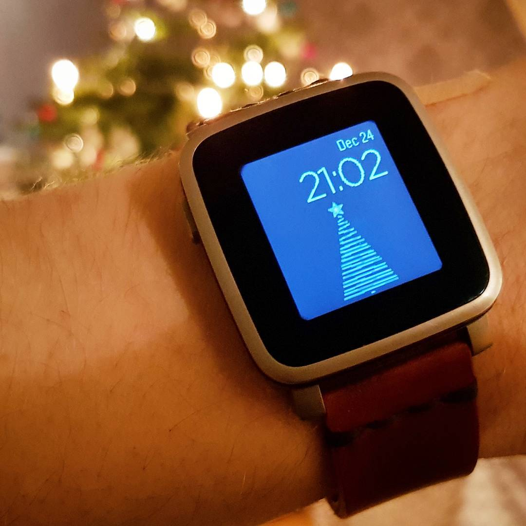 Christmas Tree - Pebble Watchface on Pebble Time Steel