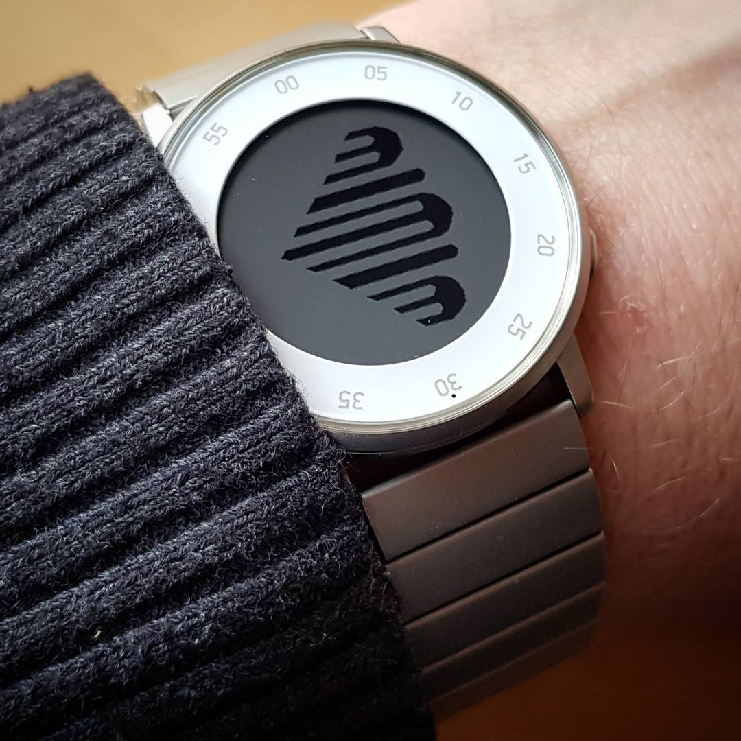 Fingers of Time - Pebble Watchface on Pebble Time Round