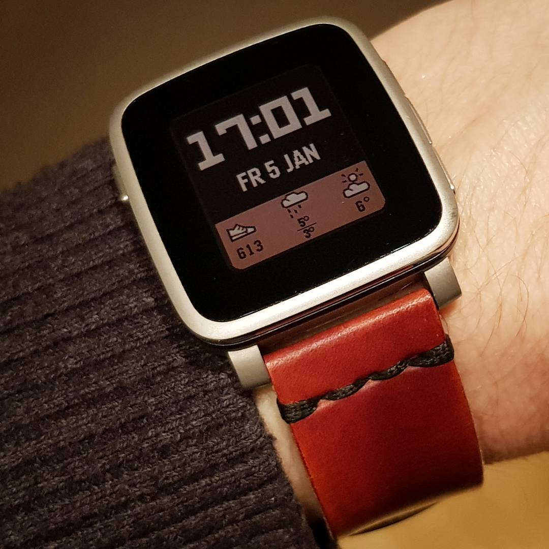 TimeStyle BB - Pebble Watchface on Pebble Time Steel