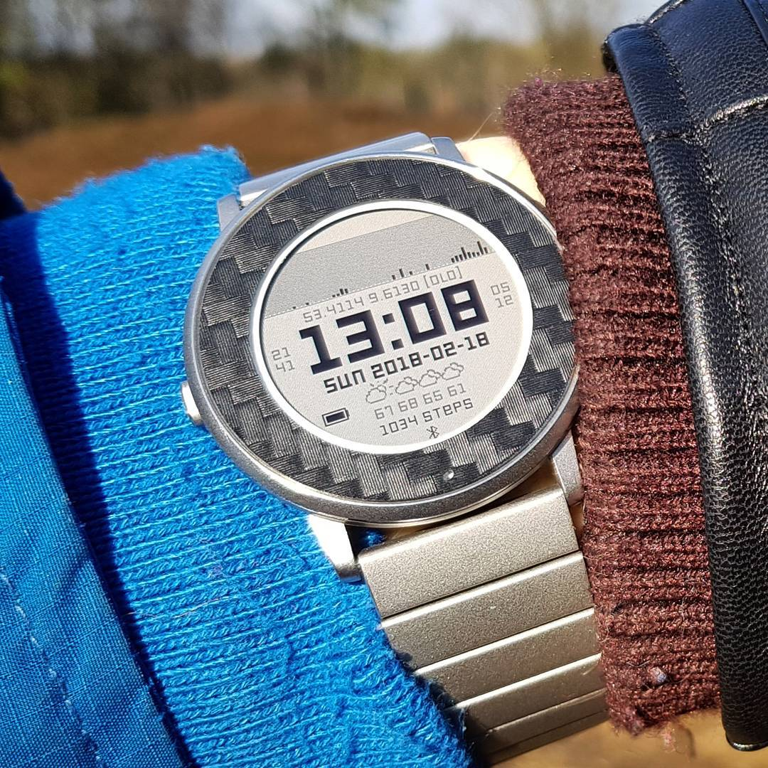 Trail Watch - Pebble Watchface on Pebble Time Round