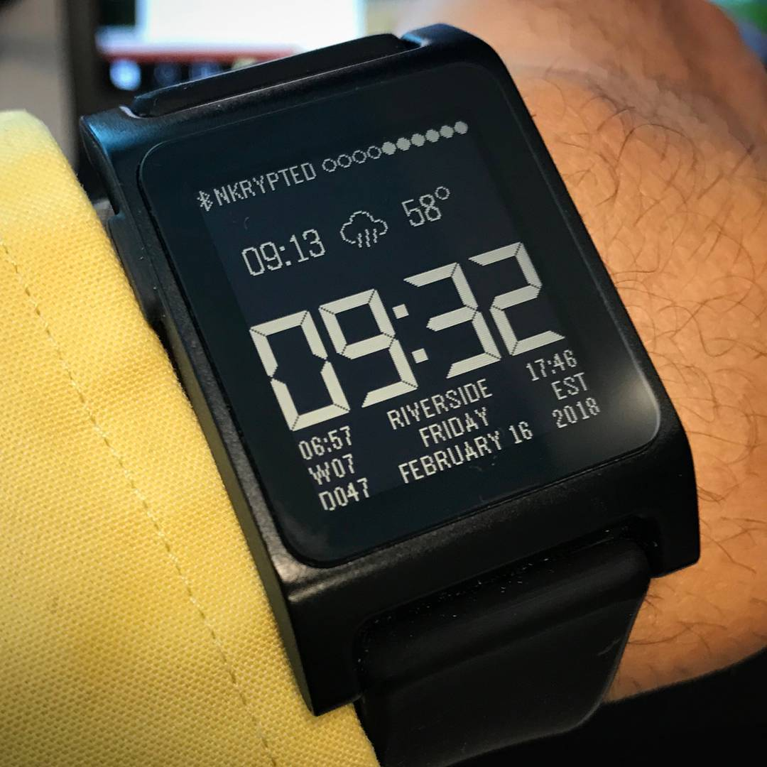 Real Steel - Pebble Watchface on Pebble 2