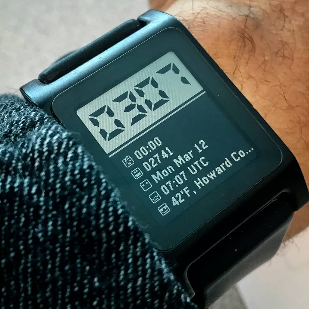 YR-353-2 - Pebble Watchface on Pebble 2