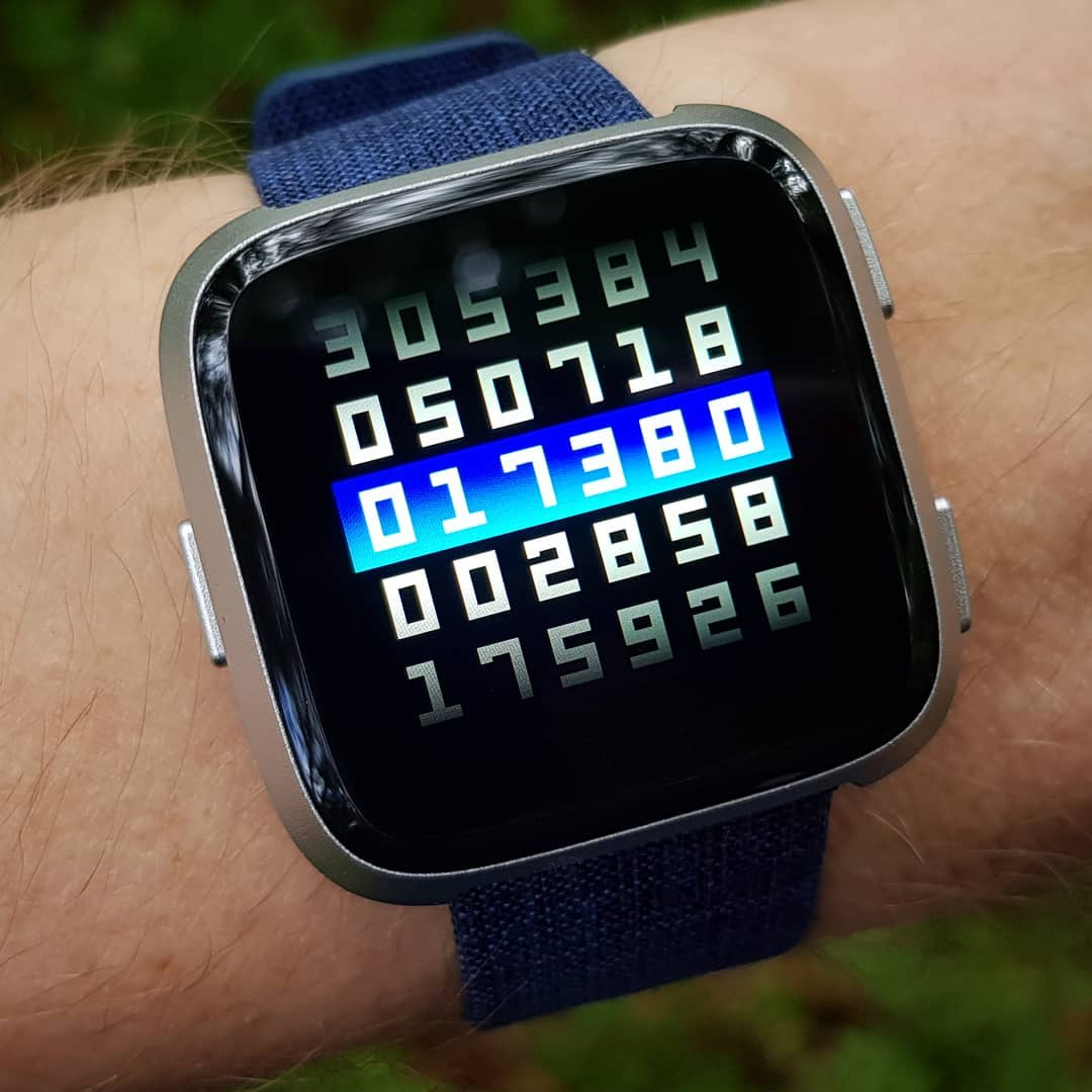Slides of Time - Fitbit Clock Face on Fitbit Versa