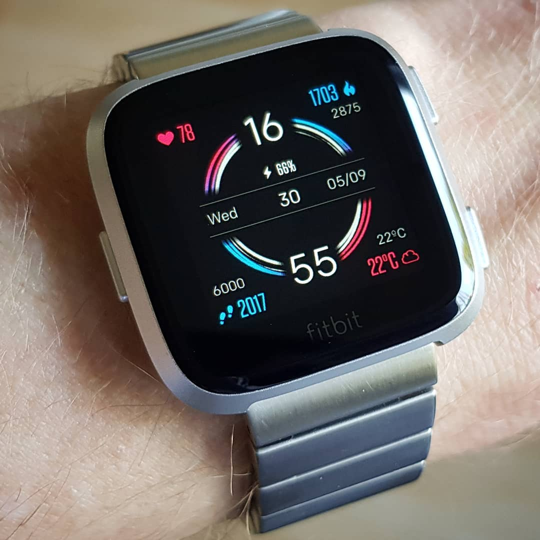 Singularity - Fitbit Clock Face on Fitbit Versa