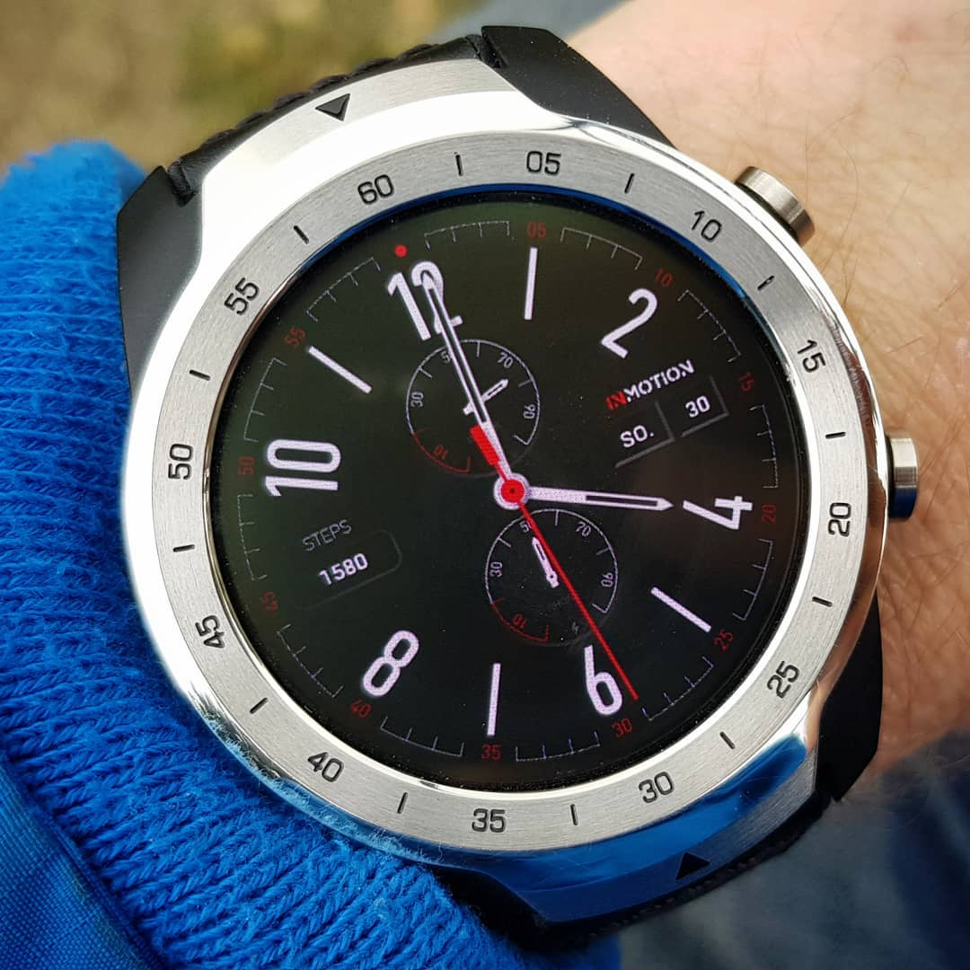 INMOTION Steps - Wear OS Watchface on Mobvoi TicWatch Pro