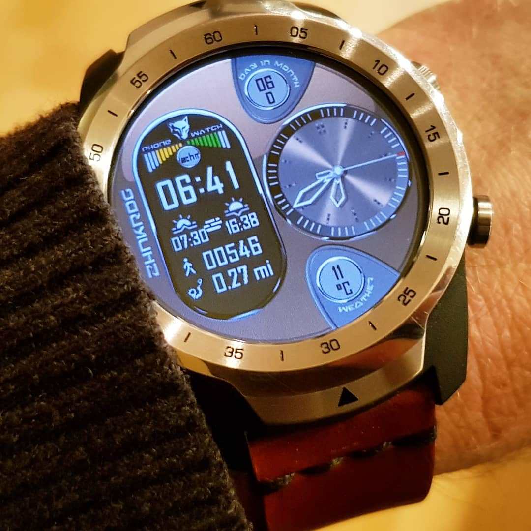 ZK_TR047TM - Wear OS Watchface on Mobvoi TicWatch Pro
