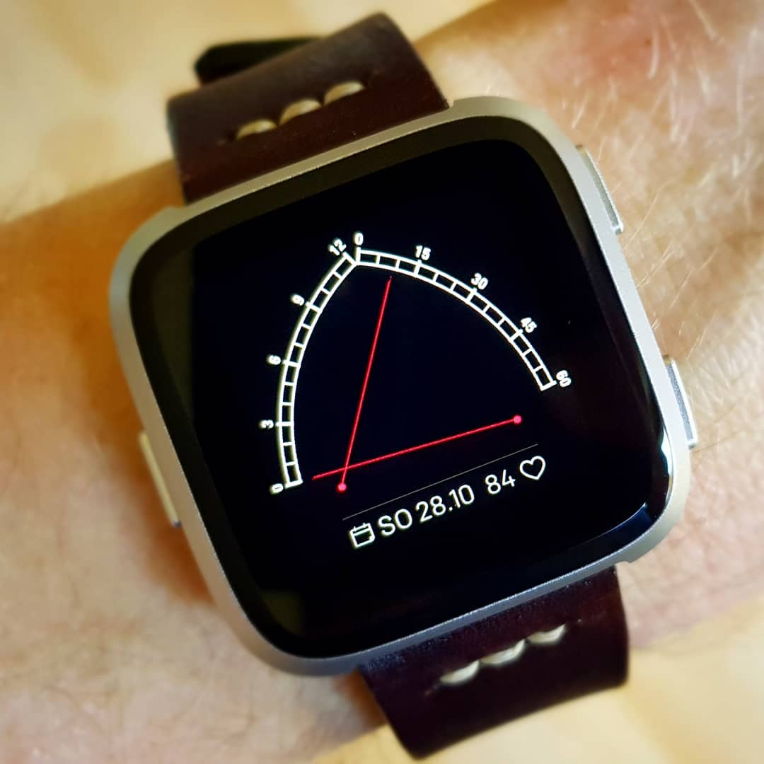 Gothic - Fitbit Clock Face on Fitbit Versa