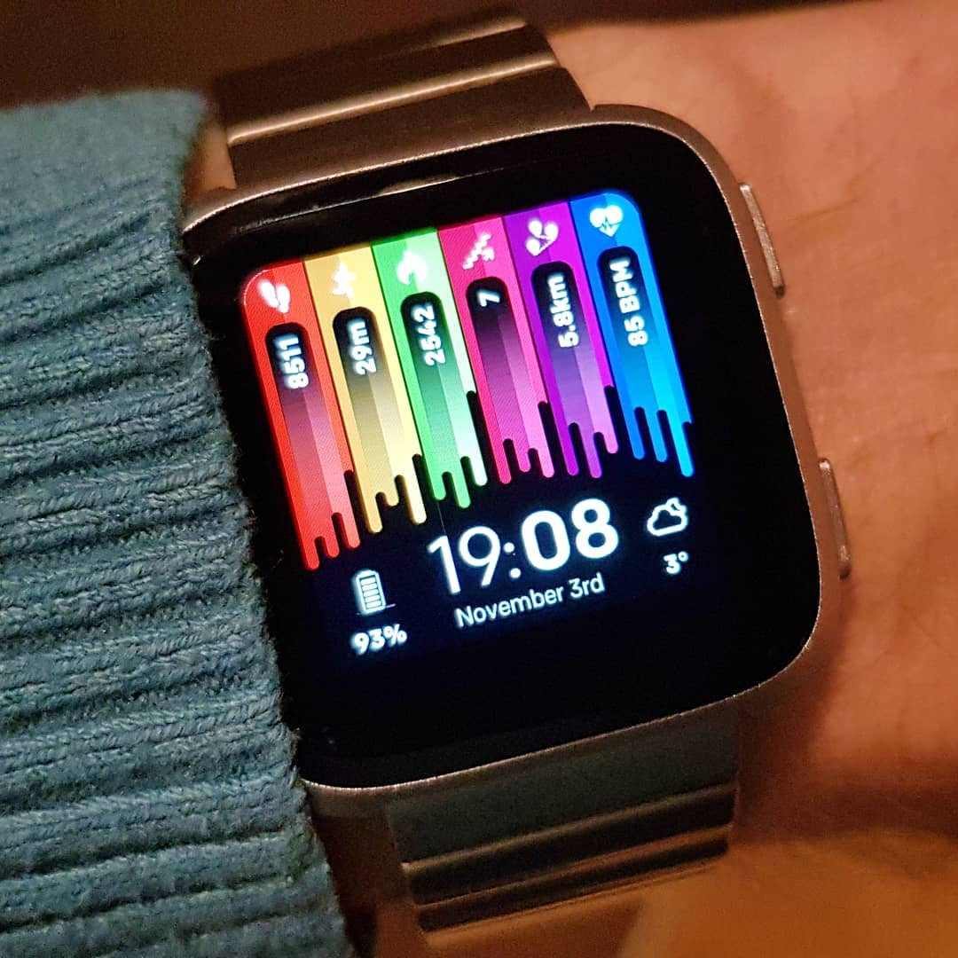 Drips - Fitbit Clock Face on Fitbit Versa