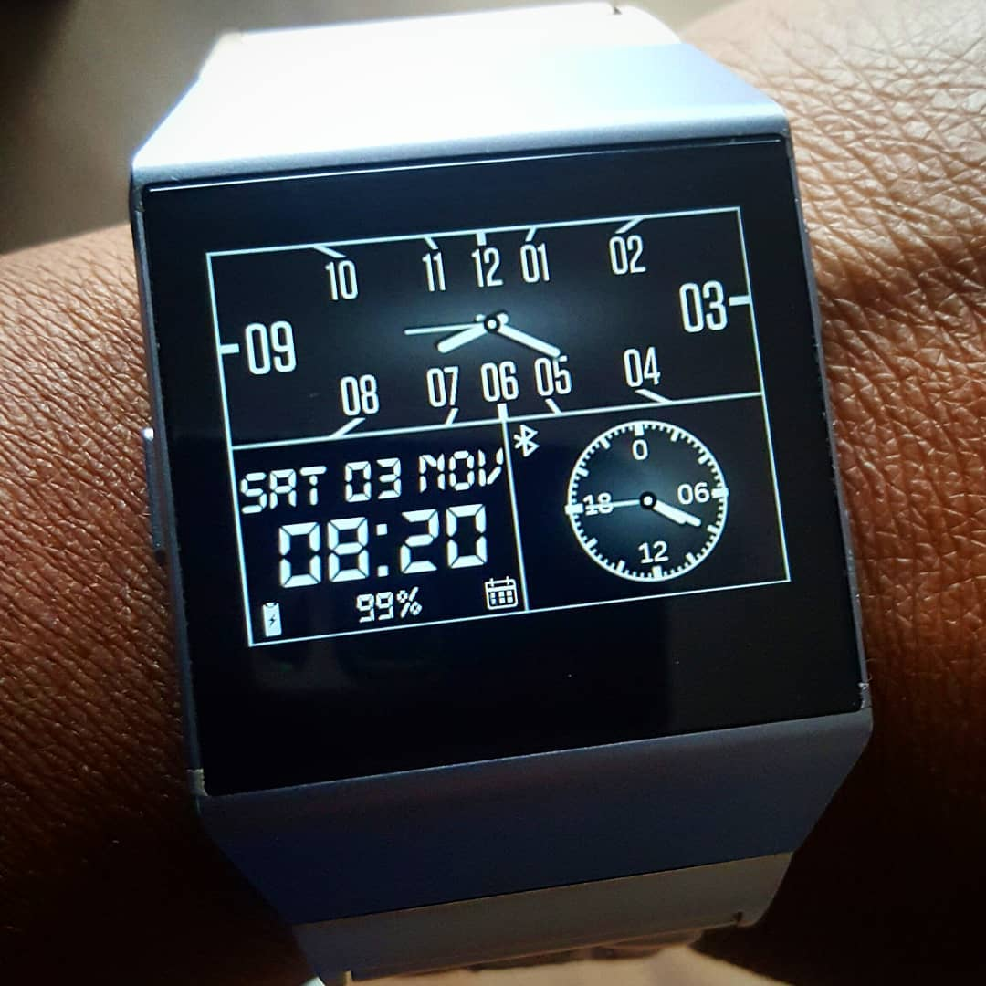 Thrice - Fitbit Clock Face on Fitbit Ionic