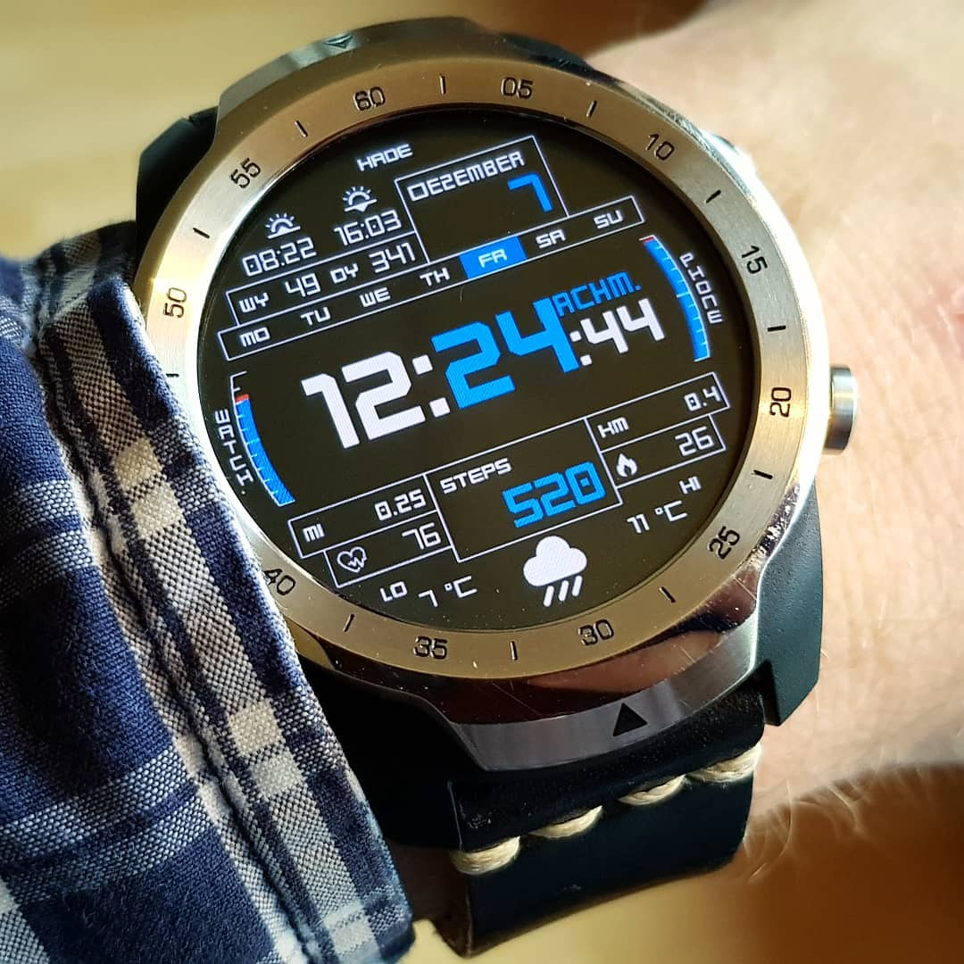 HaDe PRO DS 40 - Wear OS Watchface on Mobvoi TicWatch Pro