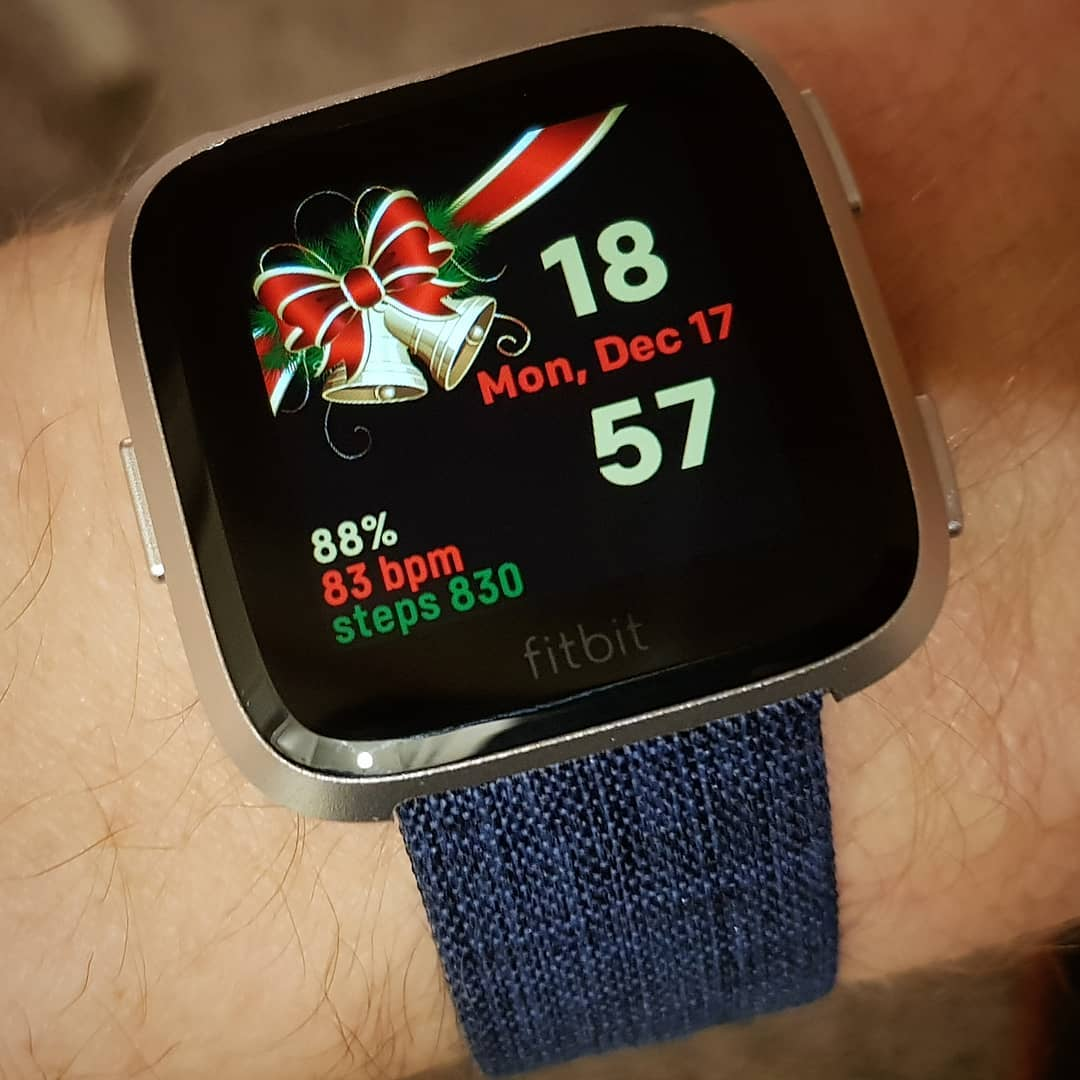 Christmas Bells - Fitbit Clock Face on Fitbit Versa