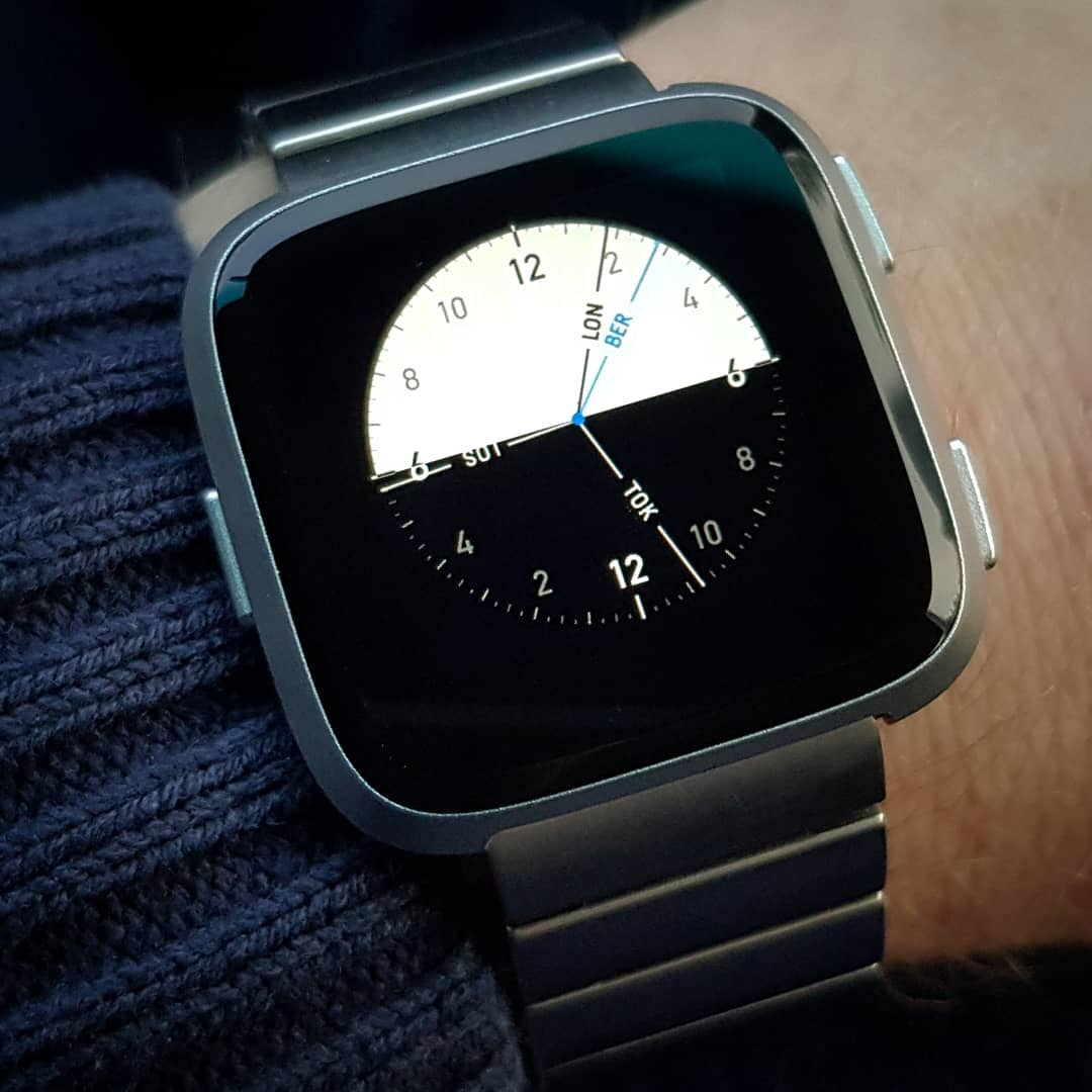 24hours - Fitbit Clock Face on Fitbit Versa