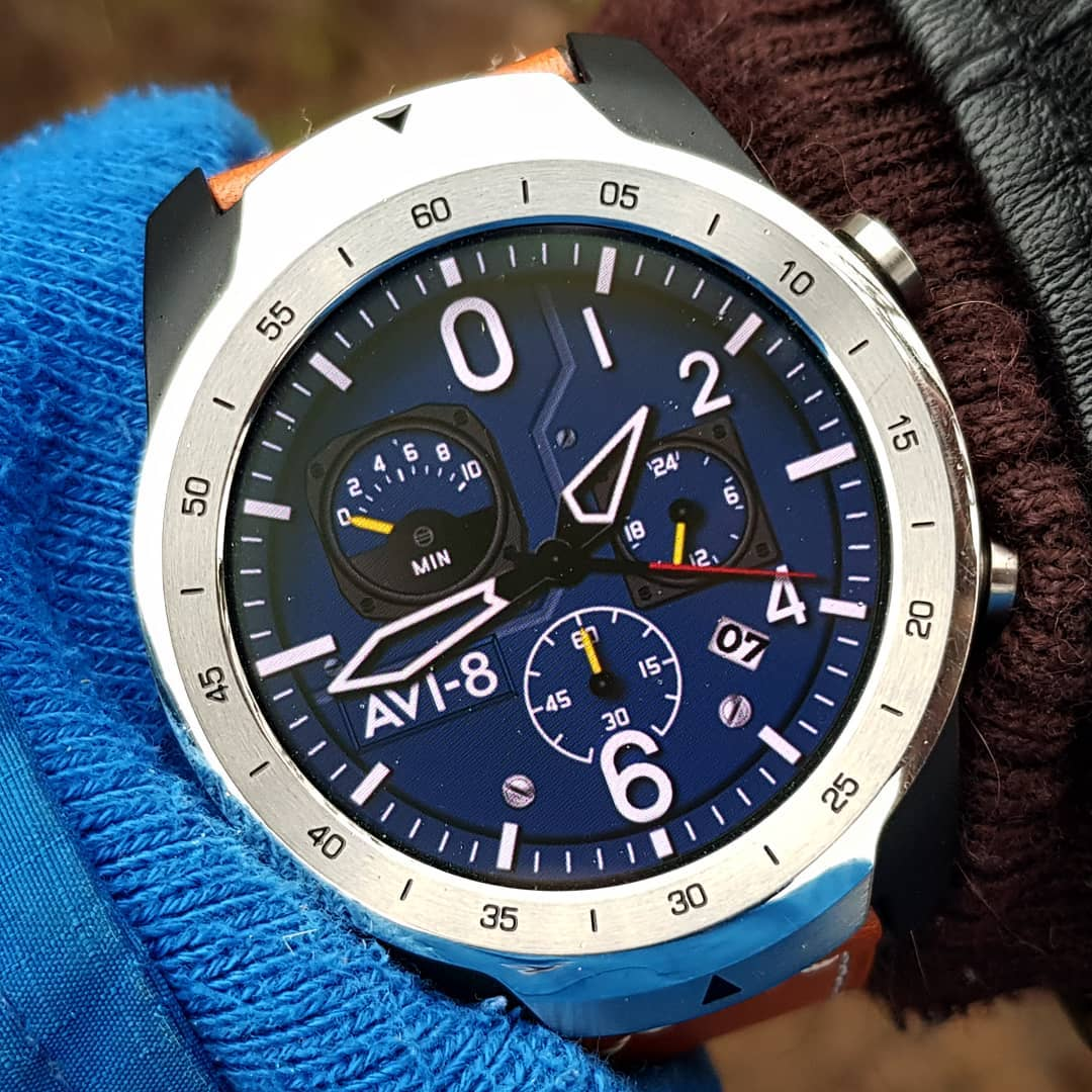 Hawker Hunter AV4052-07 - Wear OS Watchface on Mobvoi TicWatch Pro