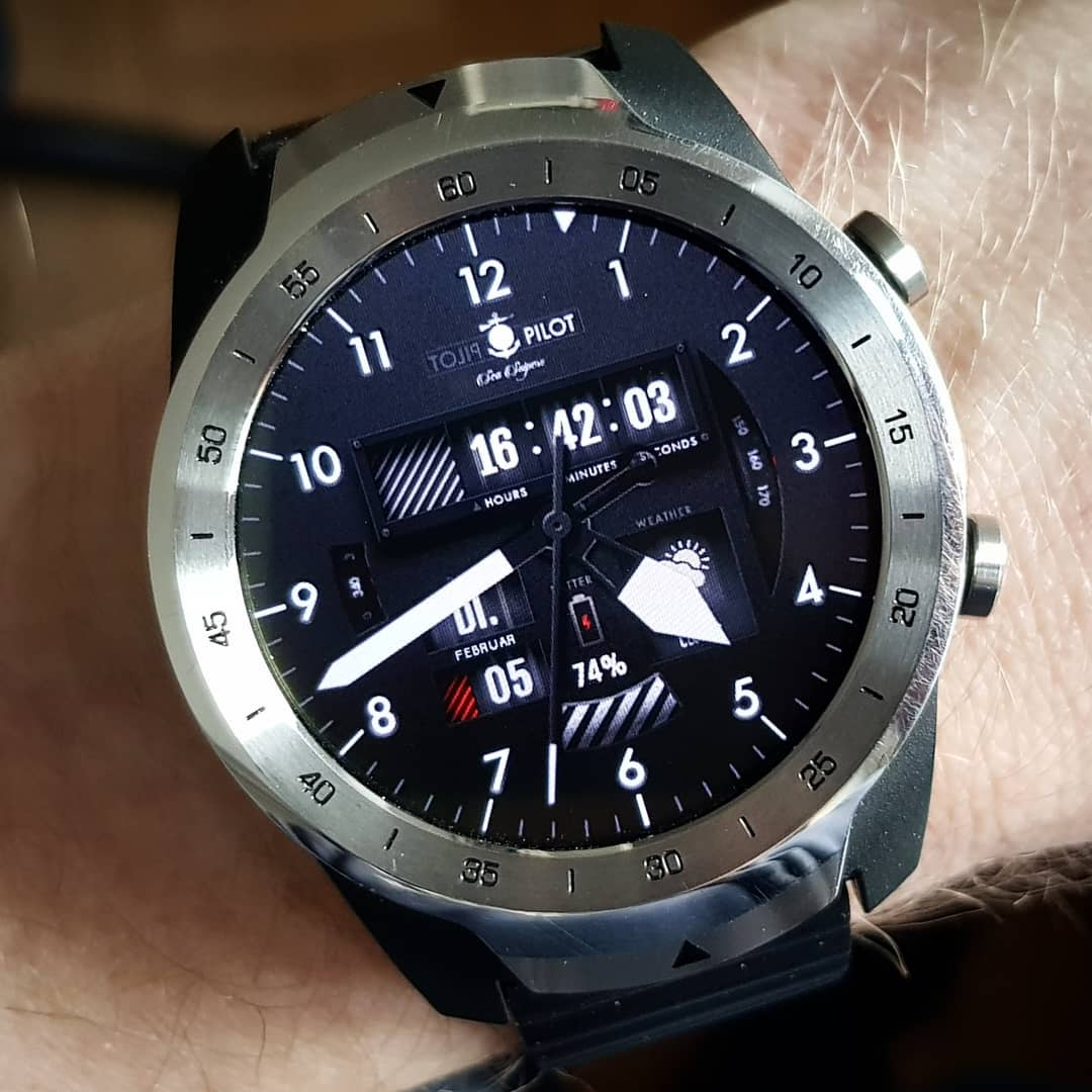 Sea Snipers Pilot Edition - Wear OS Watchface on Mobvoi TicWatch Pro